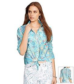 Lauren Ralph Lauren® Paisley Tied-Hem Voile Shirt