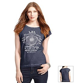 Lauren Jeans Co.® Marine-Print Graphic T-Shirt