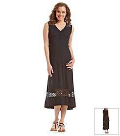 Jones New York Sport® Lace Trim Maxi Dress