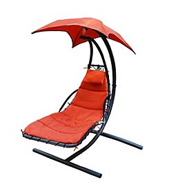 Algoma Hammocks Hammock Hanging Chaise Lounge with Stand