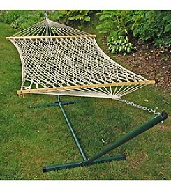Algoma Hammocks Steel Stand with Rope Hammock Combination