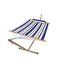 Algoma Hammocks Steel Stand with Fabric Hammock and Matching Pillow