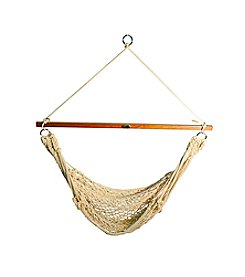 Algoma Hammocks Hanging Cotton Rope Chair