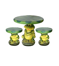 4 Seasons Global Frog with Lily Pad Garden Bistro Set
