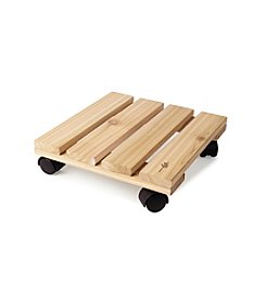 Plastec Wood Plant Caddy
