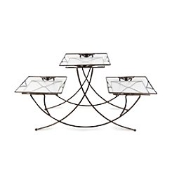 Plastec Triple Square Stand Dark Bronze