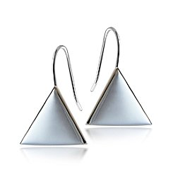 Designs by FMC Sterling Silver Triangle Drop Earrings