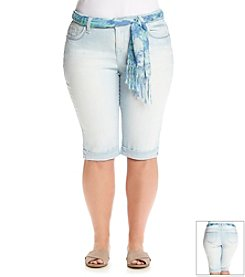 Wallflower® Plus Size Sash Belted Skimmer Short