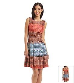 Julian Taylor Geo Print Scuba Dress
