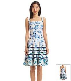 Julian Taylor Floral Tank Scuba Dress