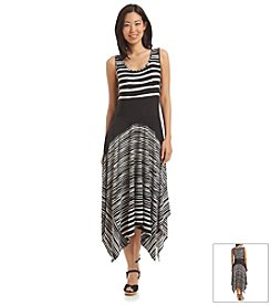 Sangria™ Striped Sharkbite Hem Dress