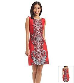 Sandra Darren Paisley Print Scuba Dress