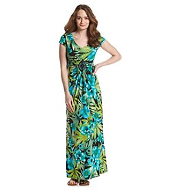 Madison Leigh® Floral Ruched Maxi Dress