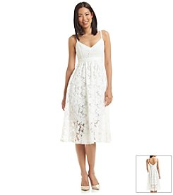 Plenty by Tracy Reese Crochet And Lace Fit And Flare Dress