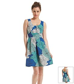 Plenty by Tracy Reese Floral Print Fit And Flare Dress