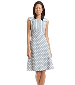 Nine West® Striped Flap Sleeve Dress
