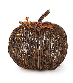 LivingQuarters LED Pumpkin Table Piece