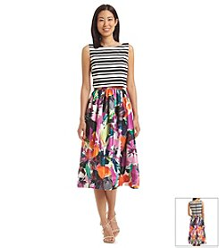 Taylor Dresses Multi Stripe Dress