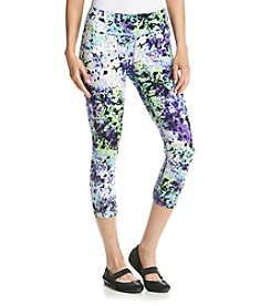 Calvin Klein Performance Oleander Print Crop Leggings