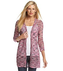 Laura Ashley® Multi Open Stitch Cardigan