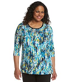 Laura Ashley® Plus Size Impressionist Raindrop Tunic