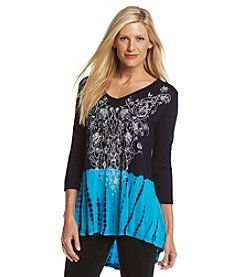 Laura Ashley® Tie Dye Border Tunic
