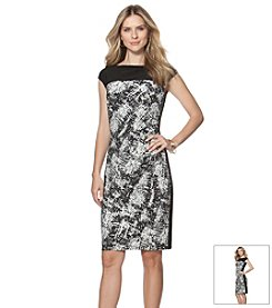 Chaps® Printed Sheath Dress