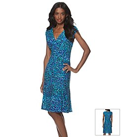 Chaps® Multi Dot Sheath Dress