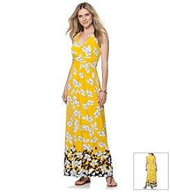 Chaps® Floral Print Maxi Dress