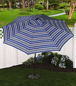 Bliss™ Hammocks 9' Oceanview Stripe Market Umbrella with Tilt