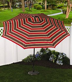 Bliss™ Hammocks 9' Nantucket Stripe Market Umbrella with Tilt