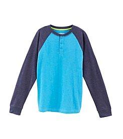 Ruff Hewn Boys' 8-20 Long Sleeve Colorblock Slub Henley