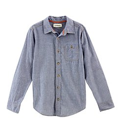 Ruff Hewn Boys' 8-18 Long Sleeve Single Pocket Chambray Shirt