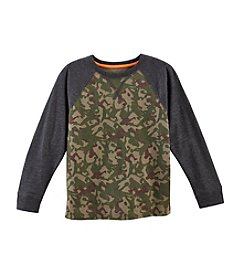 Ruff Hewn Mix & Match Boys' 2T-7 Long Sleeve Camo Raglan Crew Neck Tee