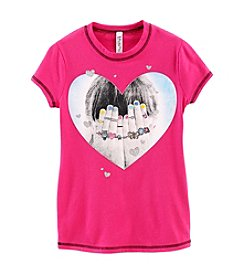 Beautees® Girls' 7-16 Peekaboo Heart Tee