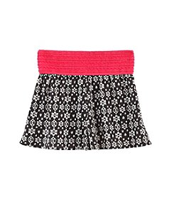Squeeze® Girls' 7-14 Geo Printed Soft Shorts