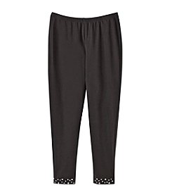 Miss Attitude Girls' 7-16 Studded Hem Leggings