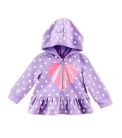 Cuddle Bear® Mix & Match 3-24M Full Zip Fleece Peplum Zip Hoodie