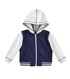 Cuddle Bear® Mix & Match Baby Boys' 3M-2T Full Zip Fleece Baseball Hoodie
