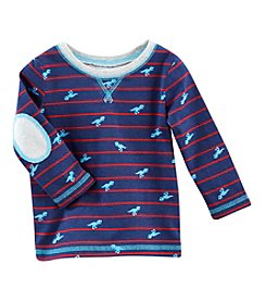 Cuddle Bear® Mix & Match Baby Boys' Long Sleeve Striped Dino Tee