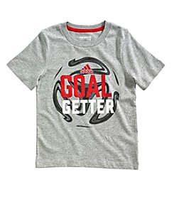 adidas Boys' 2T-7X Short Sleeve Slogan Tee