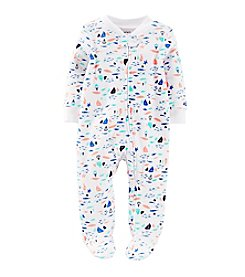 Carter's® Baby Boys' Sailboat And Whale Print Footie