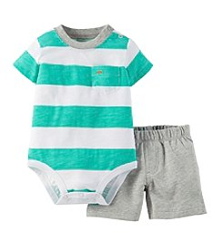 Carter's® Baby Boys'  Striped Top And Shorts Outfit Set