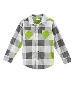 Ruff Hewn Boys' 2T-7 Long Sleeve Knit Plaid Shirt