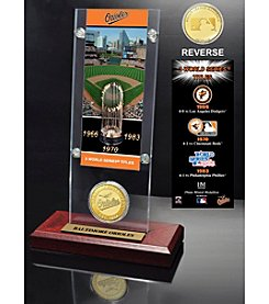 MLB® Baltimore Orioles World Series Ticket & Bronze Coin Acrylic Desktop