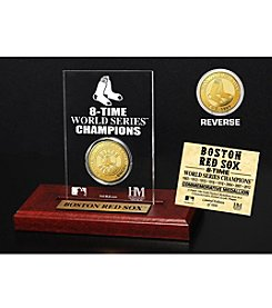 Boston Red Sox Gold Mint Coin Acrylic Desktop Display by Highland Mint