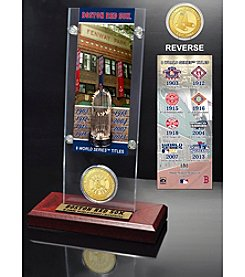 Boston Red Sox World Series Ticket & Bronze Coin Acrylic Desktop by Highland Mint