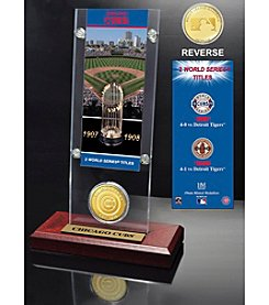 Chicago Cubs World Series Ticket & Bronze Coin Acrylic Desktop by Highland Mint
