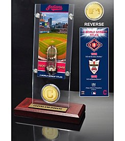 MLB® Cleveland Indians World Series Ticket & Bronze Coin Desktop Acrylic