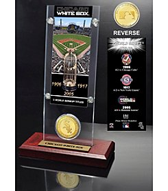 Chicago White Sox World Series Ticket & Bronze Coin Acrylic Desktop by Highland Mint